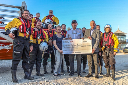 Hornsea Inshore Rescue presentation with cheque